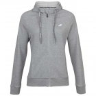 Babolat Women's Exercise Hooded Tennis Training Jacket (High Rise/Heather) - Babolat Women's Tennis Apparel