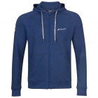 Babolat Men's Exercise Hooded Tennis Training Jacket (Estate Blue/Heather) - Bloq-UV Men's Tennis Apparel