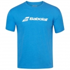 Babolat Men's Exercise Crew Neck Tennis Training Tee (Blue Aster/Heather) - Get it Fast! Enjoy FedEx 2-Day Shipping on Select Tennis Gear