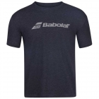 Babolat Men's Exercise Crew Neck Tennis Training Tee (Black Heather) - Get it Fast! Enjoy FedEx 2-Day Shipping on Select Tennis Gear
