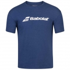 Babolat Men's Exercise Crew Neck Tennis Training Tee (Estate Blue/Heather) - Get it Fast! Enjoy FedEx 2-Day Shipping on Select Tennis Gear