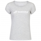 Babolat Women's Exercise Tennis Training Tee (High Rise/Heather) - Babolat Women's Tennis Apparel