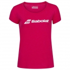 Babolat Women's Exercise Tennis Training Tee (Red Rose/Heather) - Babolat Women's Tennis Apparel