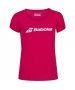 Babolat Girls' Exercise Tennis Training Tee (Red Rose/Heather) - Girl's Tops