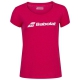 Babolat Girls' Exercise Tennis Training Tee (Red Rose/Heather) - Girl's Tennis Apparel