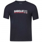 Babolat Men's Vintage Crew Neck Tennis Tee (Black Heather) - Get it Fast! Enjoy FedEx 2-Day Shipping on Select Tennis Gear