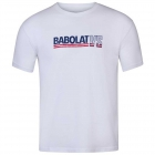 Babolat Men's Vintage Crew Neck Tennis Tee (White/White) - Get it Fast! Enjoy FedEx 2-Day Shipping on Select Tennis Gear
