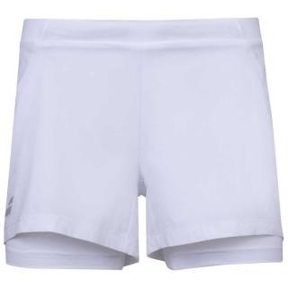 Babolat Women's Exercise Tennis Training Shorts (White/White)