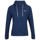 Babolat Girl's Exercise Hooded Tennis Training Jacket (Estate Blue/Heather) - Girl's Tennis Apparel