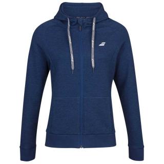 Babolat Girl's Exercise Hooded Tennis Training Jacket (Estate Blue/Heather)