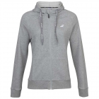 Babolat Girl's Exercise Hooded Tennis Training Jacket (High Rise/Heather) - Girl's Tennis Apparel