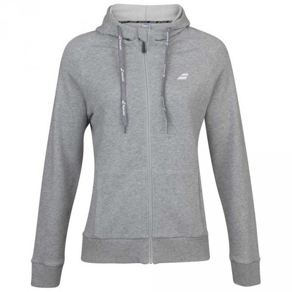 Babolat Girl's Exercise Hooded Tennis Training Jacket (High Rise/Heather)