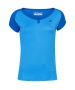 Babolat Girl's Play Cap Sleeve Tennis Tee (Blue Aster) - Girl's Tops