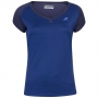 Babolat Girl's Play Cap Sleeve Tennis Tee (Estate Blue)