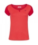 Babolat Girl's Play Cap Sleeve Tennis Tee (Tomato Red) - Girl's Tops