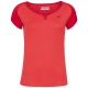 Babolat Girl's Play Cap Sleeve Tennis Tee (Tomato Red) - Girl's Tennis Apparel