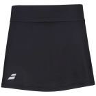 Babolat Girl's Play Tennis Skirt with built in Shorties (Black/Black) - Girl's Tennis Apparel