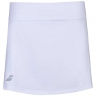 Babolat Girl's Play Tennis Skirt with built in Shorties (White/White) - Girl's Tennis Apparel