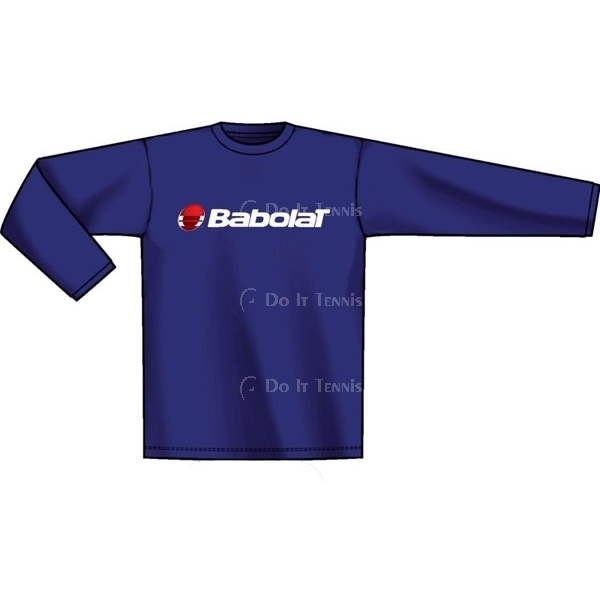 Babolat Men's Logo Long Sleeve T (Team)