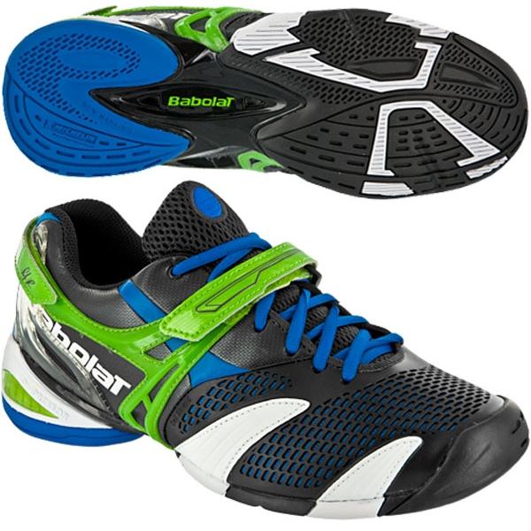 Babolat Men's Propulse 3 Tennis Shoe (Blk/ Blu/ Grn) from Do It Tennis