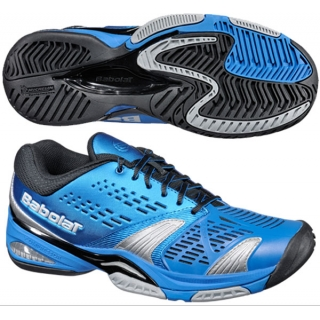 Babolat Men's SFX Tennis Shoes (Blu/ Blk/ Sil)