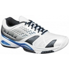 Babolat Men's SFX Shoes (Wht/ Blu/ Sil) - Tennis Shoes