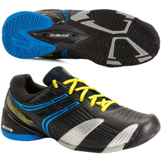 Babolat Men's V-Pro All Court Tennis Shoes (Blk/ Blu/ Sil)