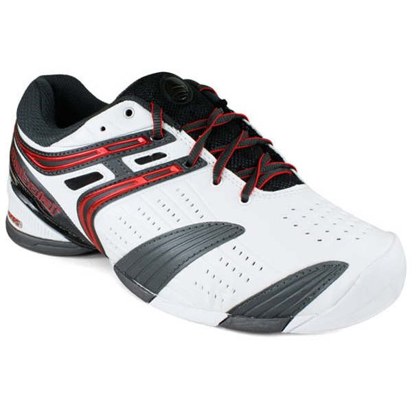 Babolat Men's V-Pro All Court Tennis Shoes (Wht/ Blk/ Red)