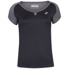 Babolat Women's Play Cap Sleeve Tennis Top (Black/Black) - Babolat Women's Tennis Apparel