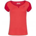 Babolat Women's Play Cap Sleeve Tennis Top (Tomato Red) - Babolat Women's Tennis Apparel