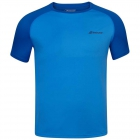Babolat Men's Play Crew Neck Tennis Training Tee (Blue Aster) -
