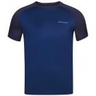 Babolat Men's Play Crew Neck Tennis Training Tee (Estate Blue) -