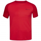 Babolat Boy's Play Crew Neck Tennis Tee (Tomato Red) -