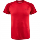 Babolat Men's Play Crew Neck Tennis Training Tee (Tomato Red) -