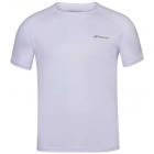 Babolat Men's Play Crew Neck Tennis Training Tee (White/White) -
