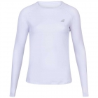 Babolat Women's Play LongSleeve Tennis Tee (White/White) - Specials & Deals on Premium Tennis Gear