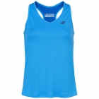 Babolat Women's Play Cap Sleeve Tennis Tank Top (Blue Aster) - Women's Tank Tops