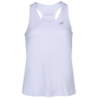Babolat Women's Play Cap Sleeve Tennis Tank Top (White/White) - Specials & Deals on Premium Tennis Gear