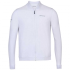 Babolat Men's Play Tennis Training Jacket (White/White) - Bloq-UV Men's Tennis Apparel