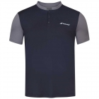 Babolat Men's Play Tennis Polo (Black/Black) -