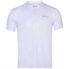 Babolat Men's Play Tennis Polo (White/White) -