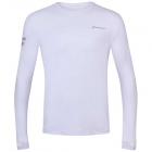 Babolat Men's Play Longsleeve Tennis Training Tee (White/White) -