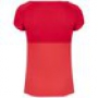 Babolat Girl's Play Cap Sleeve Tennis Tee (Tomato Red)