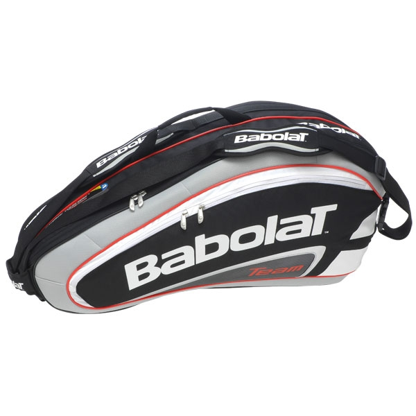 Babolat Team Racquet Holder x6 (Black/ Grey)
