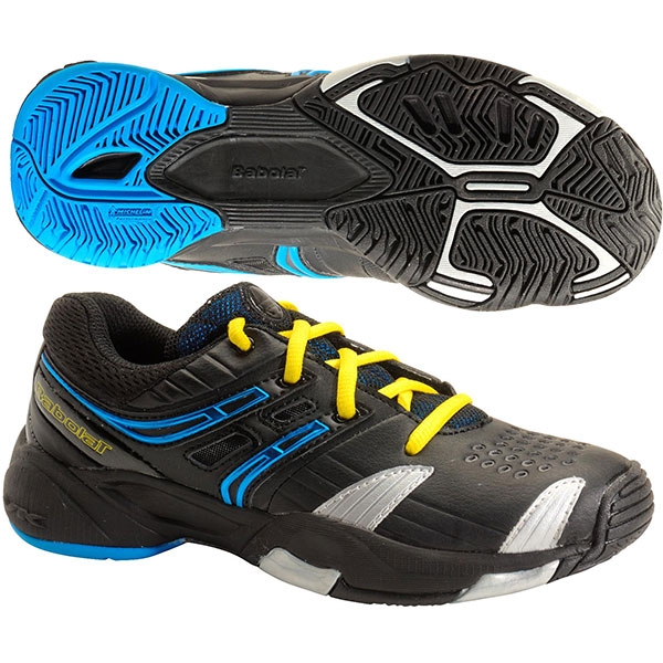 Babolat V-Pro Junior 3 Tennis Shoes (Blk/ Blu/ Sil)