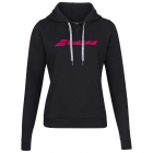 Babolat Women's Exercise Hooded Tennis Training Sweatshirt (Black/Black) - Women's Cap-Sleeve Shirts
