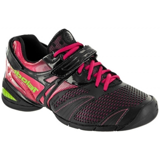 Babolat Women's Propulse Lady 3 Tennis Shoe (Blk/ Pnk/ Grn)