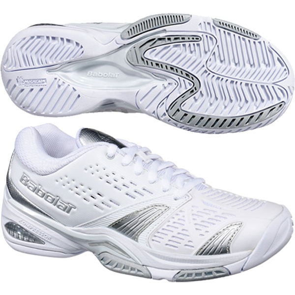Babolat Women's SFX Tennis Shoes (Wht/ Sil)