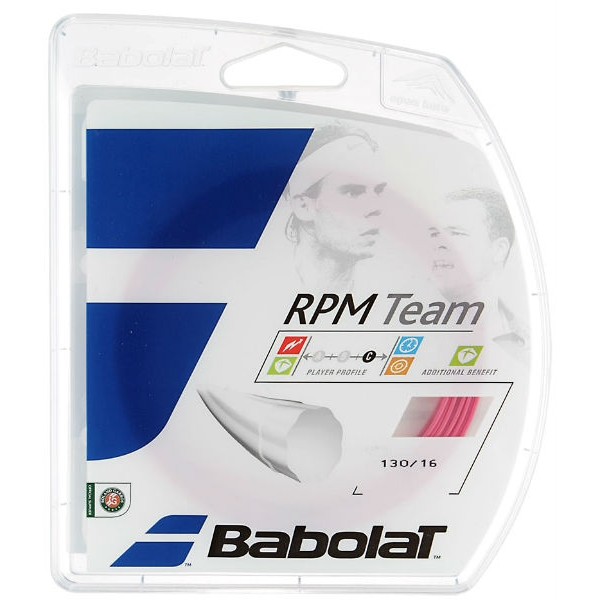 Babolat RPM Team 16g Tennis String, Pink (Set)