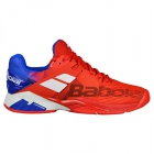 Babolat Men's Propulse Fury All Court Tennis Shoes (Bright Red/Electric Blue) - Babolat Tennis Shoes